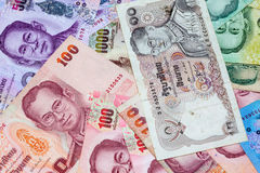 Lots of thai money Royalty Free Stock Photography