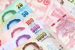 Lots of thai money Stock Photography