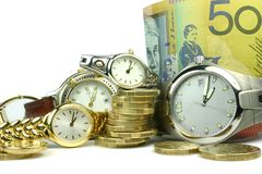 Lots of Time and Money. Conceptual image of lots of 'time and money Royalty Free Stock Images