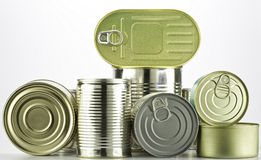 Lots of tin cans Stock Image