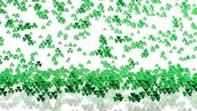 Lots of Tiny Green Clovers Raining stock footage