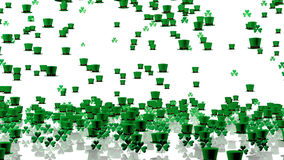 Lots of Tiny Green Irish Hats and Clovers Royalty Free Stock Photography