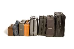Lots of Travelling Suitcases Stock Photos