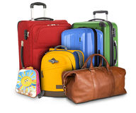 Lots of Travelling Suitcases Stock Photography