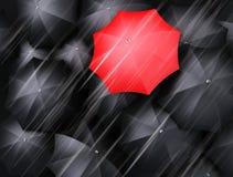 Lots of umbrellas Stock Image