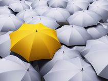 Lots of umbrellas Stock Images