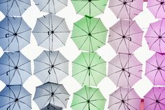 Lots of umbrellas Royalty Free Stock Photography