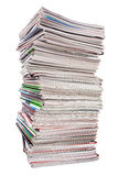 Lots of used magazines Royalty Free Stock Photography