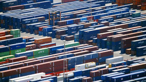 Lots of various containers Stock Image