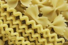 Types of pasta Stock Photo
