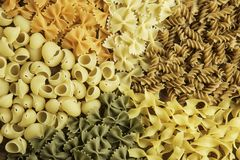 Types of pasta Stock Photography