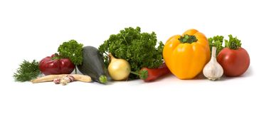 Lots of vegetables isolated Stock Photo