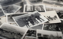 Lots of vintage photos Royalty Free Stock Photos