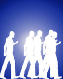 Lots Of Walking 5. An image of lots of male outlines that are walking in a group or crowed Royalty Free Stock Photo