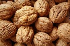Lots of walnuts. Walnuts texture Stock Photos