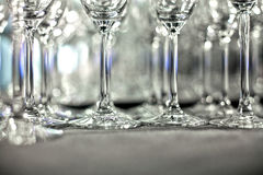 Lots of wine glasses Royalty Free Stock Photos