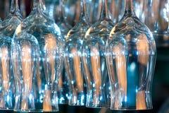 Lots of wine glasses Stock Photos