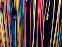 Lots of wires of different colors Royalty Free Stock Photo