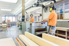 Lots of wood work to do for the carpenters Stock Photography