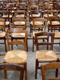 Lots of wooden chairs Royalty Free Stock Photo