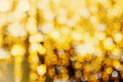 Lots of yellow blurry lights background Royalty Free Stock Photo