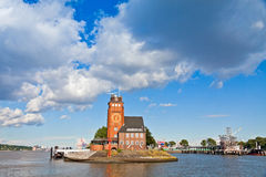 Lotsenhaus Seemannshoft (Pilot house) in the port of Hamburg, Ge Stock Photos