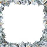 Lott av 100 dollarbancnotes med ett ställe för din text Royaltyfria Foton