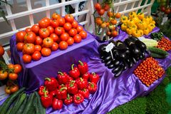 Lott av grönsaken Arkivfoto
