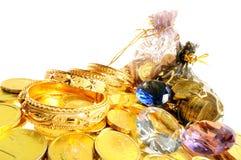 Lott av guld Arkivfoto