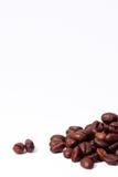 Lott av kaffebönor Arkivbild