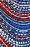 Lott av kulöra pärlor Arkivbild
