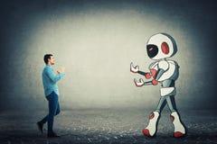Lotta contro il robot fotografia stock