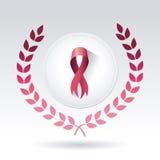 Lotta contro la campagna del cancro al seno Immagini Stock Libere da Diritti