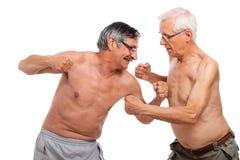 Lotta degli anziani Immagini Stock Libere da Diritti