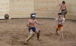 Lotta dei gladiatori Immagine Stock