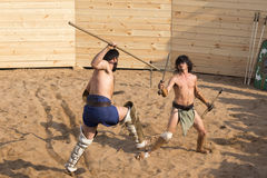 Lotta dei gladiatori Fotografia Stock Libera da Diritti