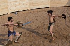 Lotta dei gladiatori Fotografie Stock Libere da Diritti