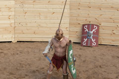 Lotta dei gladiatori Fotografie Stock