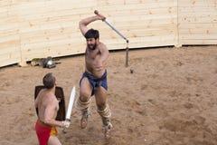 Lotta dei gladiatori Fotografia Stock