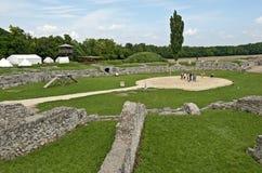 Lotta dei gladiatori a Carnunto #6 fotografia stock libera da diritti