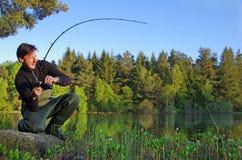 Lotta del pesce Fotografia Stock