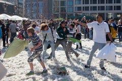 Lotta di cuscino internazionale - Francoforte, Germania Fotografie Stock Libere da Diritti