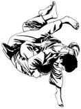 Lotta di judo illustrazione di stock