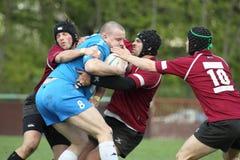 Lotta di rugby - Karel Opravil Immagine Stock Libera da Diritti