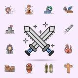 lotta, guerra, icona della lama Insieme universale di storia per progettazione del sito Web e sviluppo, sviluppo del app royalty illustrazione gratis