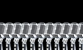 Lotta Mics-2 On Black Stock Photography