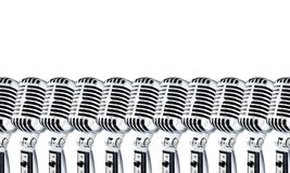 Lotta Mics-2 no branco Fotografia de Stock Royalty Free