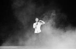 Lotta nella nebbia e nel ballo foschia-moderno Immagini Stock Libere da Diritti