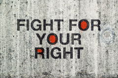 Lotta per i vostri giusti graffiti Immagine Stock Libera da Diritti