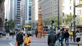 Lotta fountain in San Francisco, USA, stock video